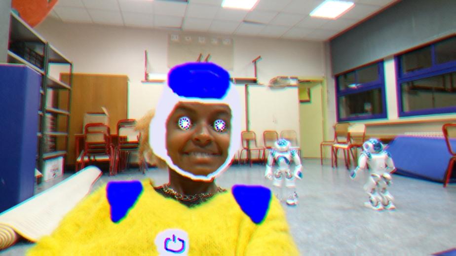 ana com robô
